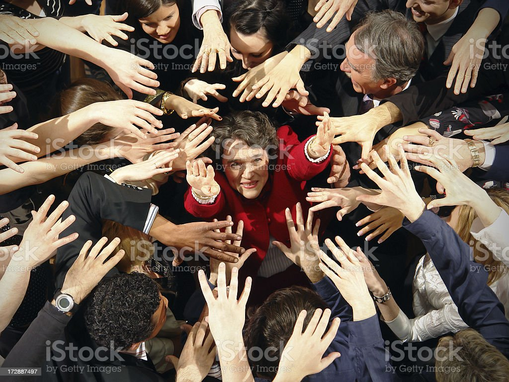 Escape from Crowd stock photo