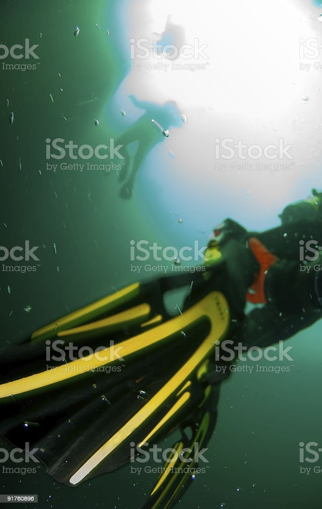 Escape from depth royalty-free stock photo
