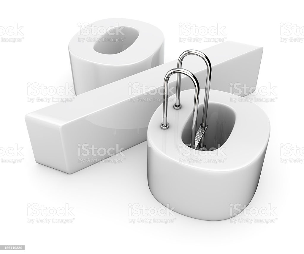Escape from the debt trap royalty-free stock photo