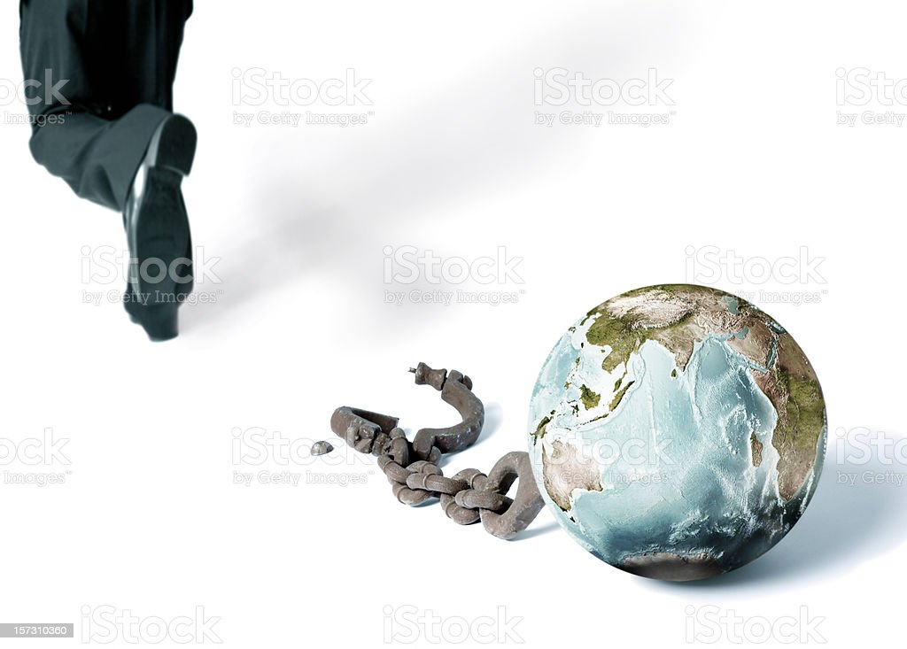 escape from the world stock photo