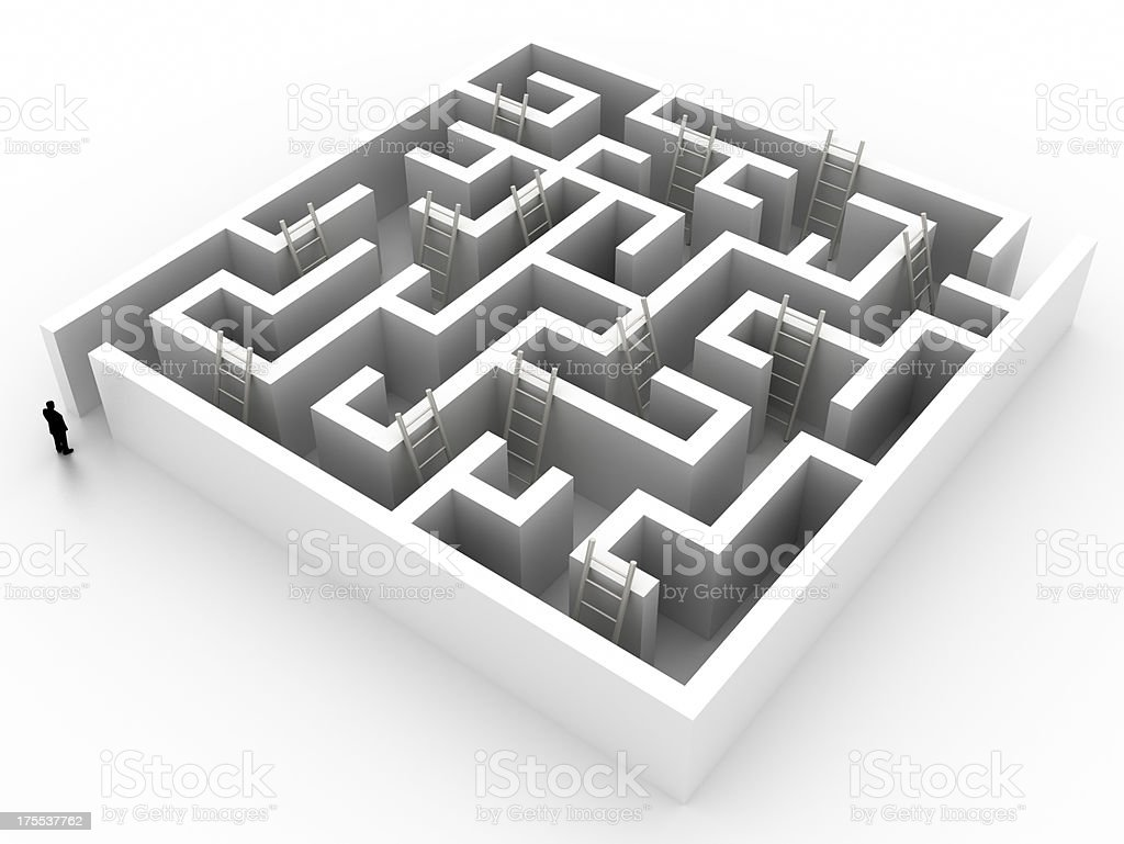 Escape from this labyrinth royalty-free stock photo