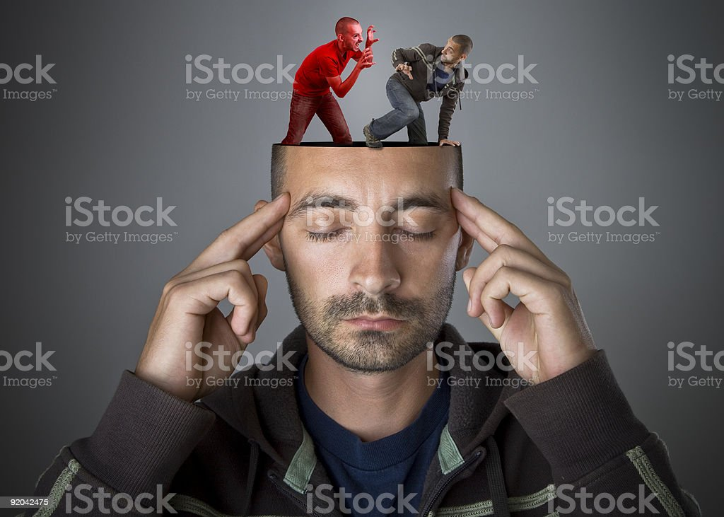 Escape from your own demons stock photo