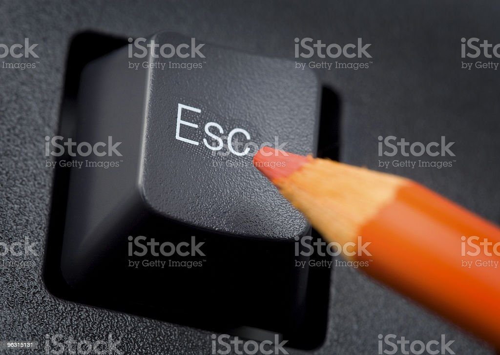 Escape Now royalty-free stock photo
