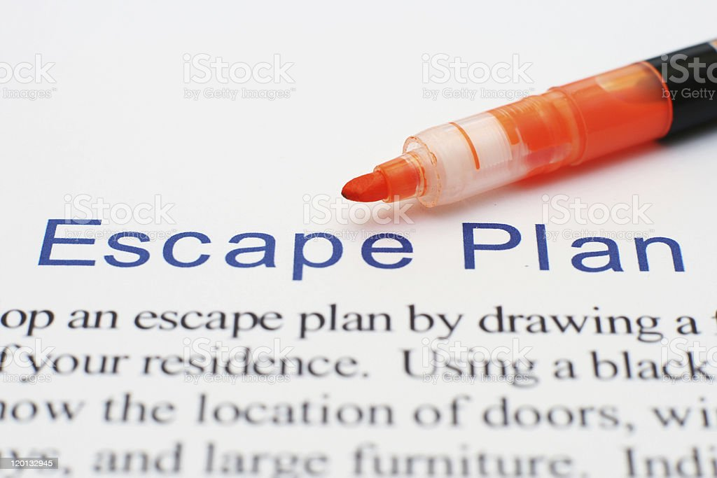 Escape plan stock photo