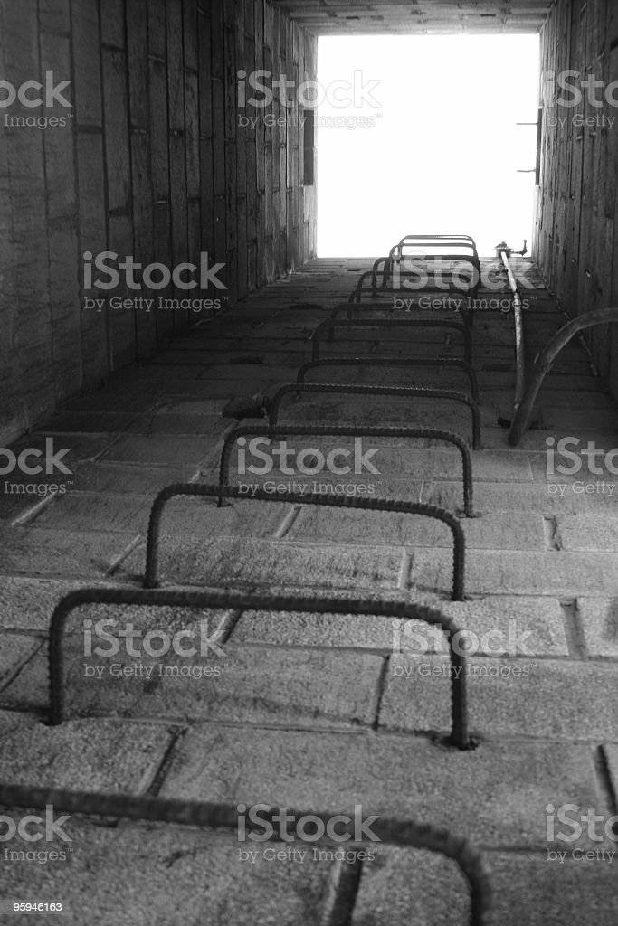 Escape Series, Iron Ladder, Exit, Hole stock photo