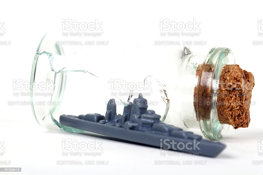 Escape the Bottle royalty-free stock photo