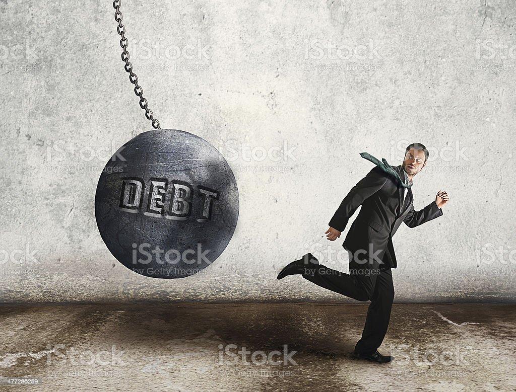 escape the debt stock photo