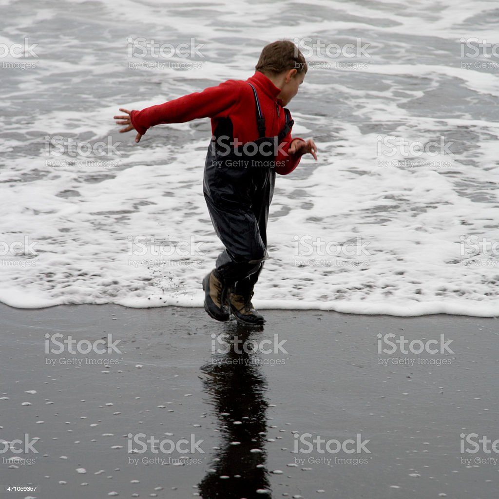 Escape the Wave royalty-free stock photo