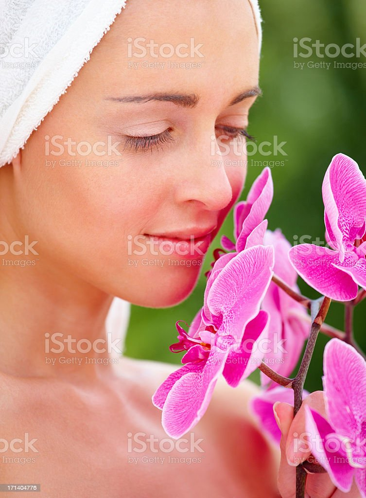 Escape to a world of tropical pampering royalty-free stock photo