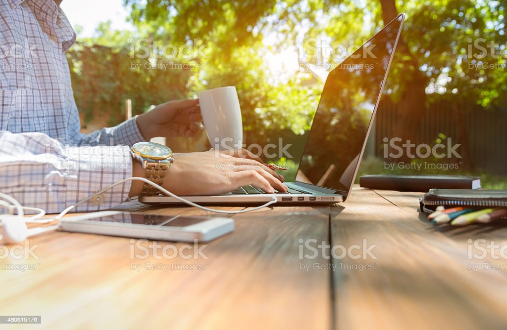 Escaped of office stock photo