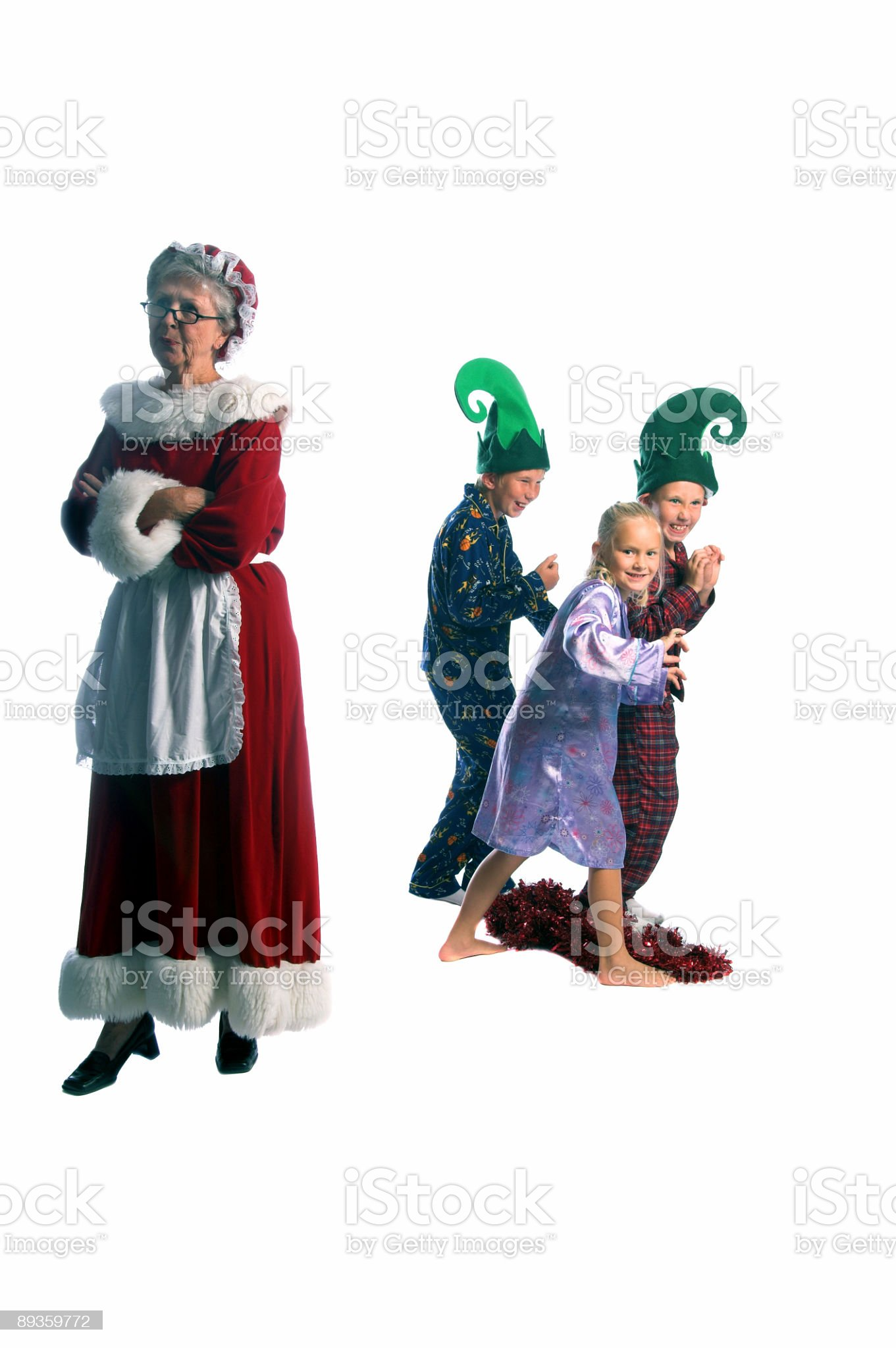 Escaping  Elves royalty-free stock photo