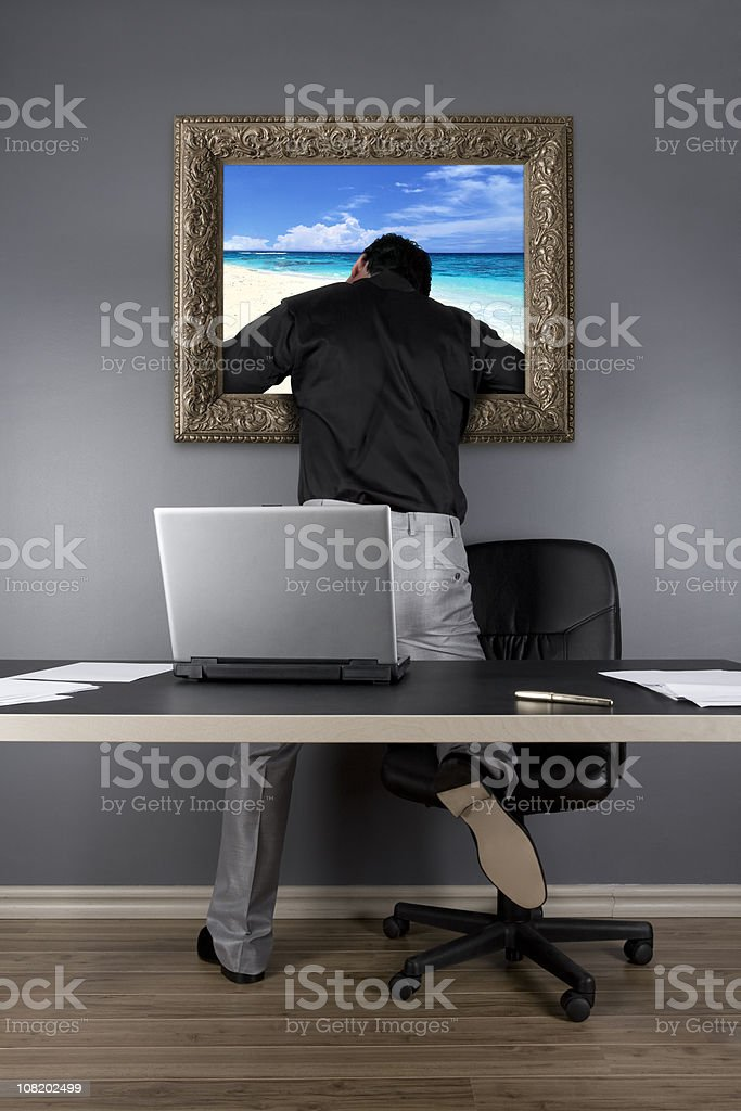 Escaping royalty-free stock photo