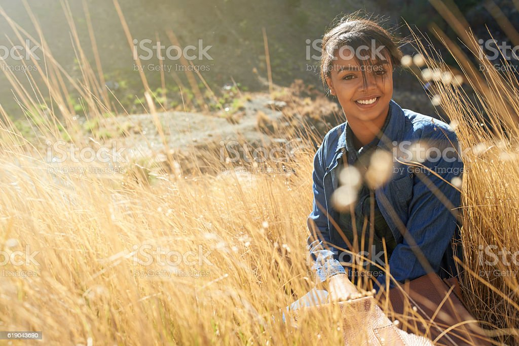 Escaping the craziness of everyday life stock photo