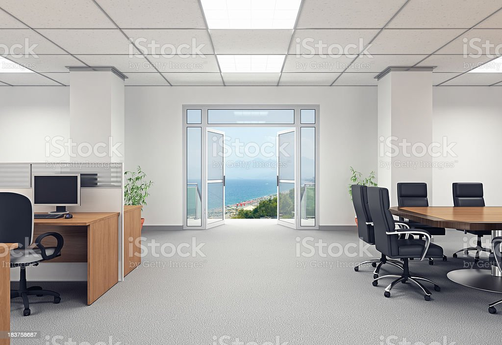 Escaping the Office stock photo