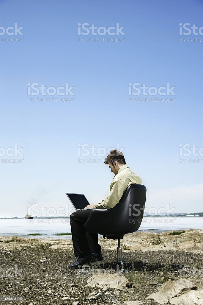 Escapism royalty-free stock photo