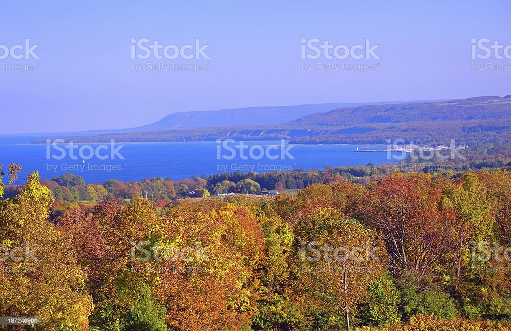 Escarpment Autumn stock photo