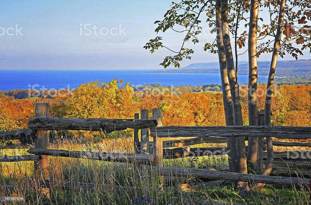 Escarpment Fall Colors stock photo