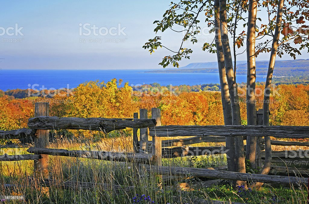 Escarpment Fall Colors stock photo