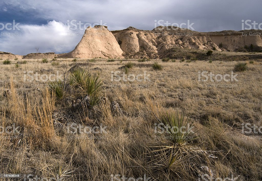 Escarpment on the Pawnee National Grassland royalty-free stock photo