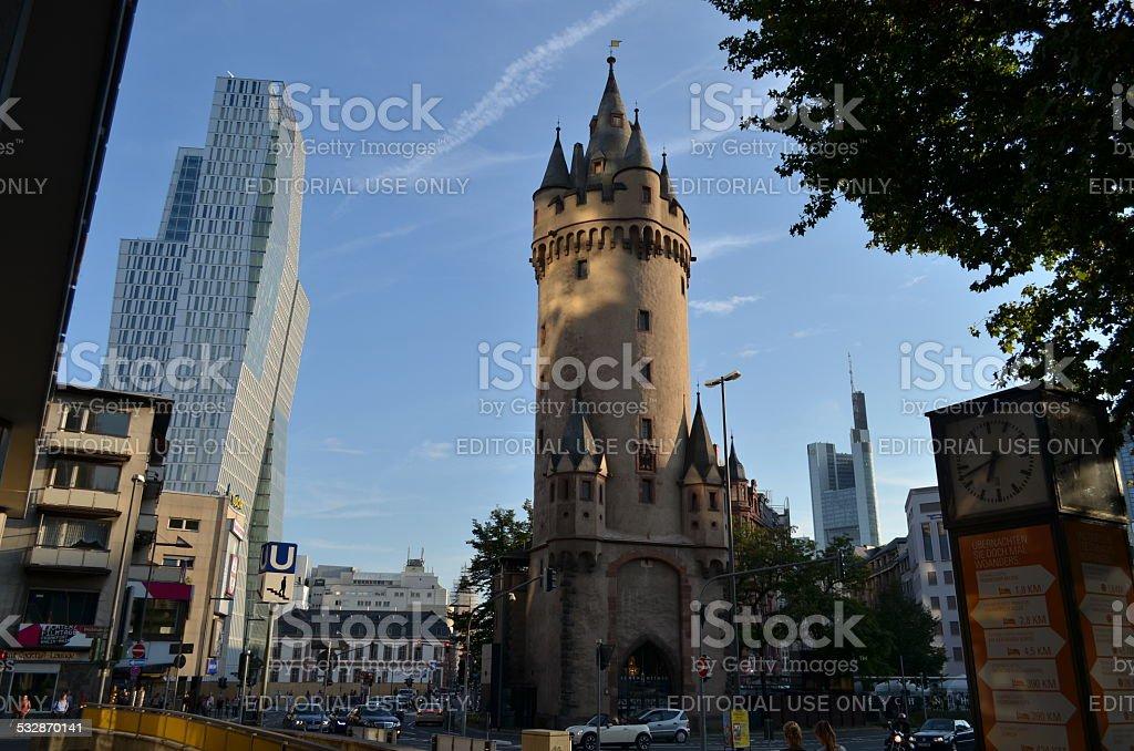 Eschenheimer Turm and Jumeirah hotel, Frankfurt stock photo