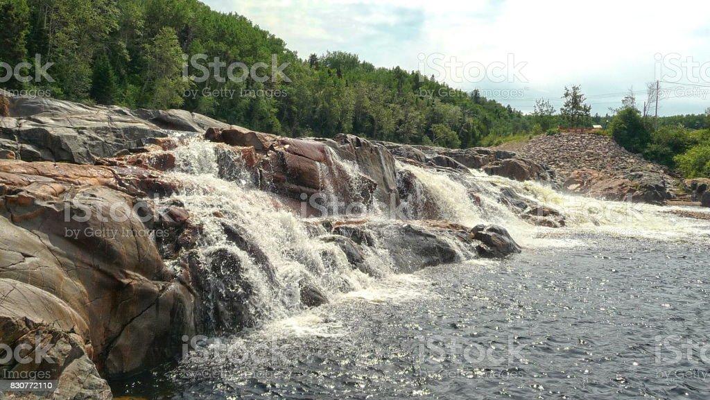 Escoumins River stock photo