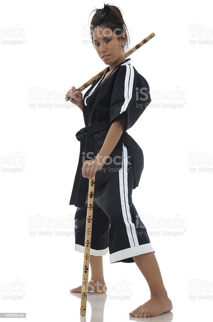 Escrima stick boss stock photo