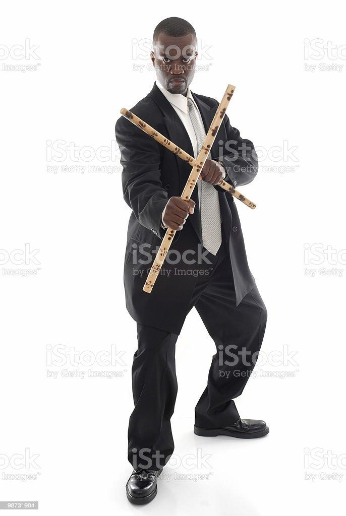 Escrima stick business stock photo