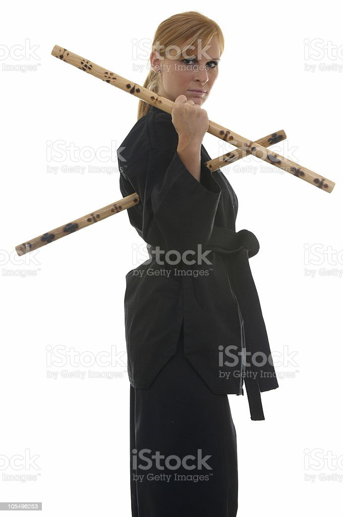 Escrima stick way stock photo