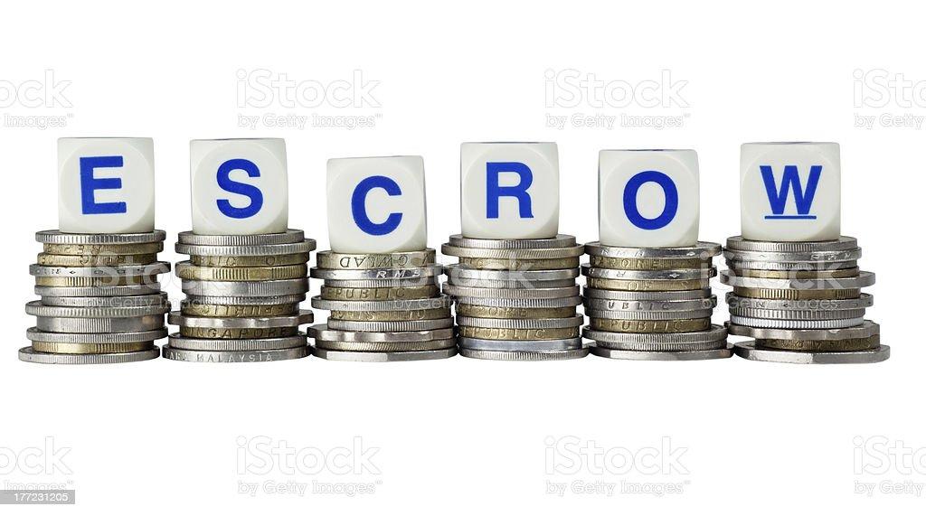 Escrow royalty-free stock photo