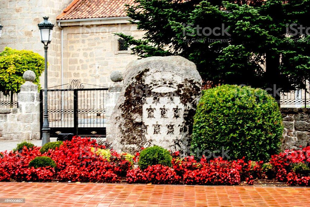 Escudo Galapagar stock photo