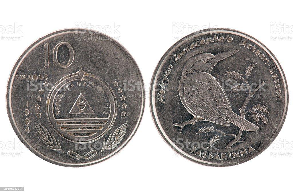 10 Escudos Coin from Cape Verde stock photo
