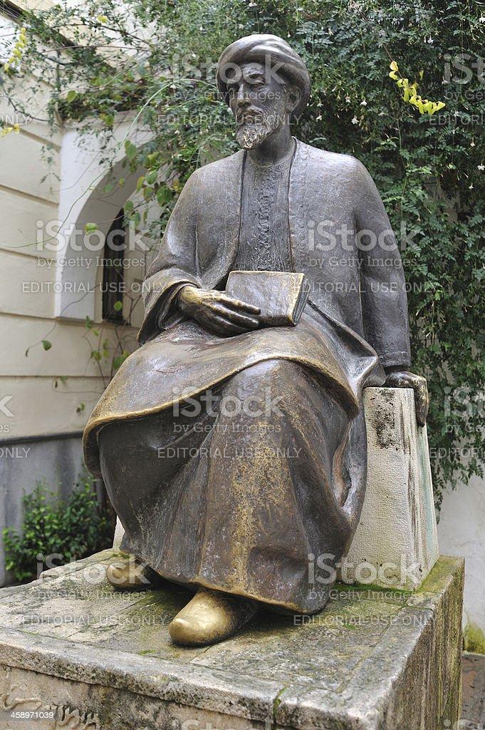 Esculpture of Maimonides in Cordoba, Spain stock photo