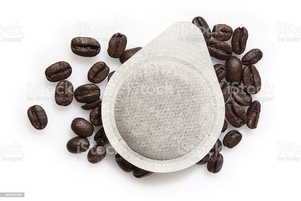 Ese espresso coffee serving - Cialde stock photo