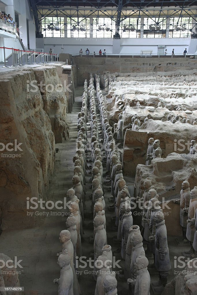 esercito di terracotta royalty-free stock photo