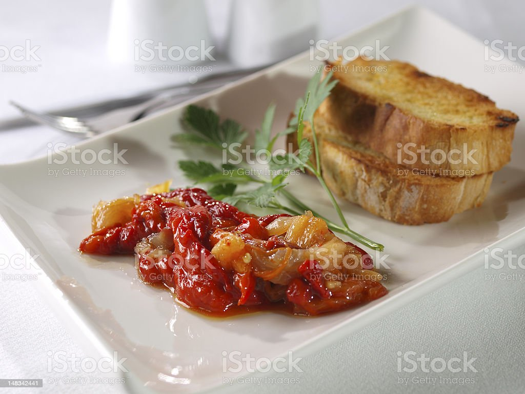 Esgarraet – Red pepper & cod Salad royalty-free stock photo