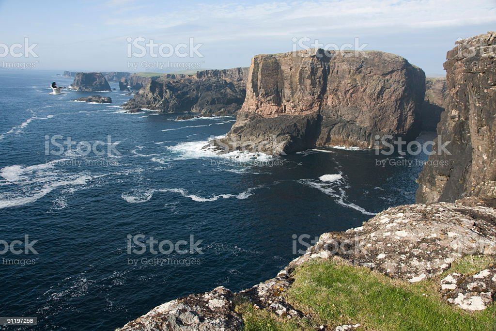 Eshaness a remote and very scenic Shetland area stock photo
