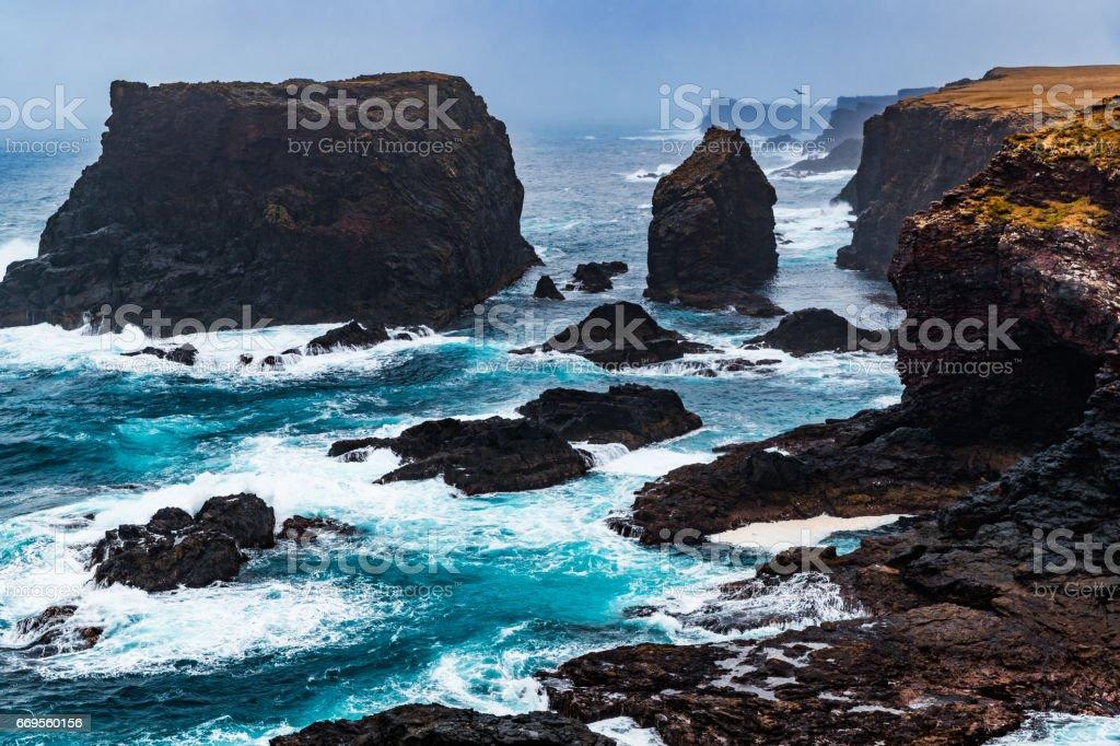 Eshaness, Shetland Islands, Scotland stock photo