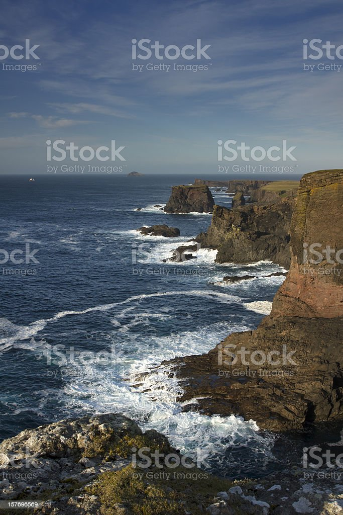 Eshaness Shetland on a sunny day royalty-free stock photo