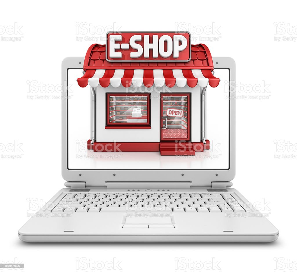 e-shop in laptop royalty-free stock photo