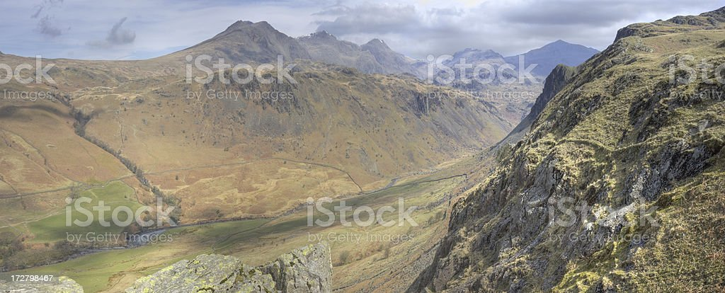 Eskdale Panorama royalty-free stock photo