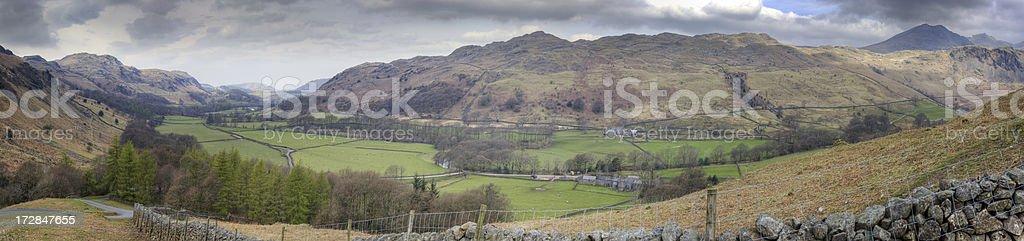 Eskdale Panorama royalty-free stock photo