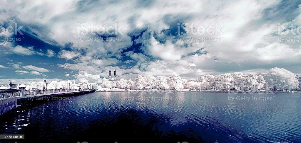 Eskilstuna City view stock photo