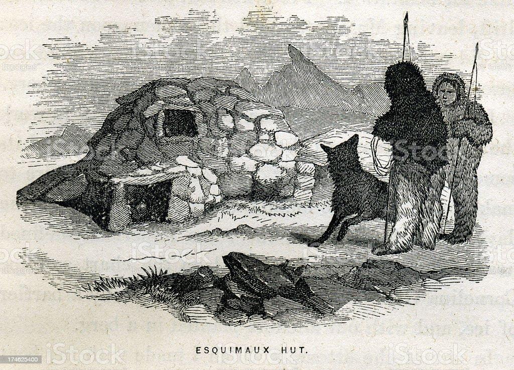 Eskimo Igloo royalty-free stock photo