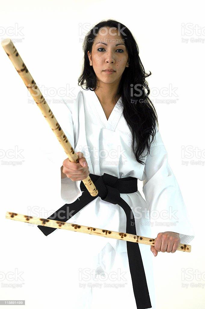 Eskrima sticks stock photo