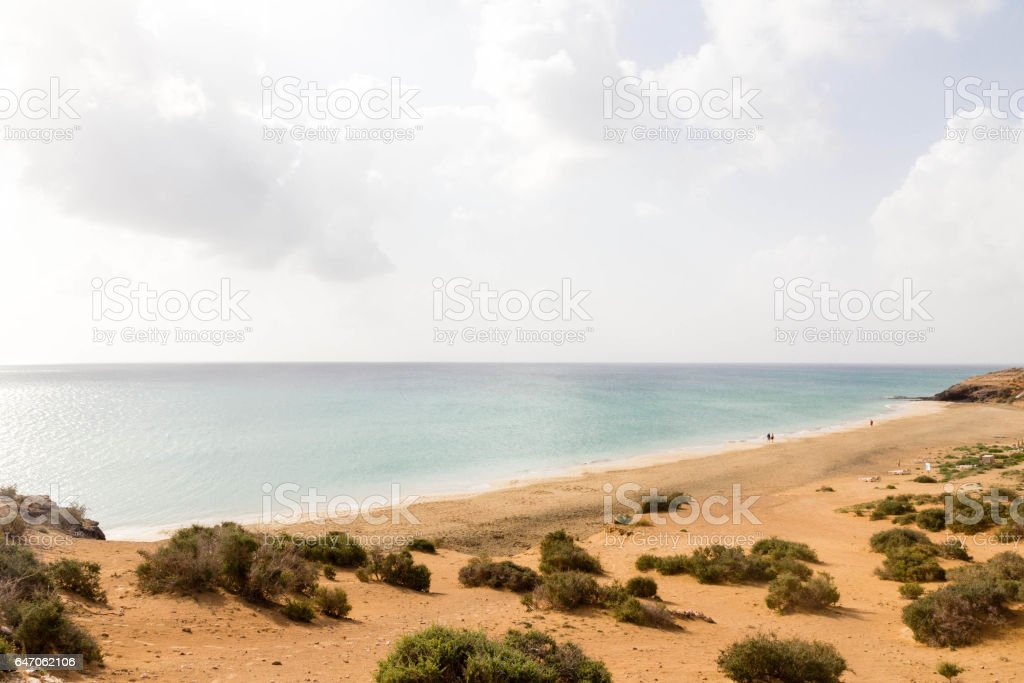 Esmeralda beach - Playa Esmeralda,  south of Costa Calma, Fuerteventura, Canaries, Spain stock photo