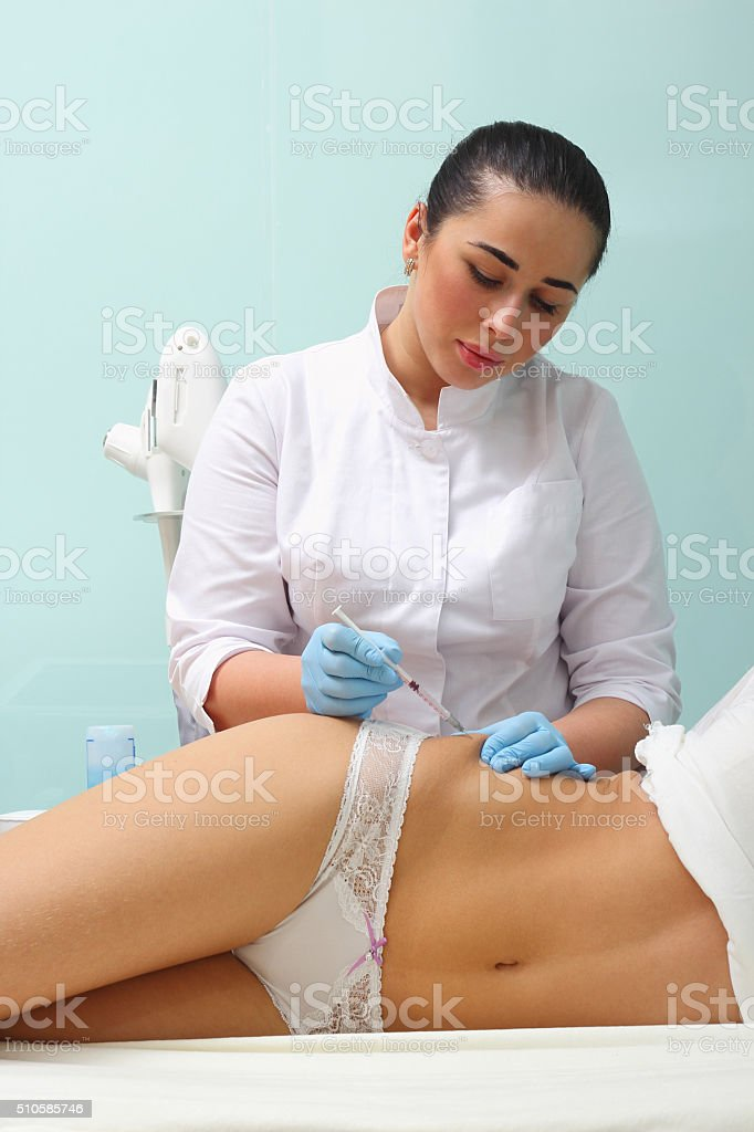Мesotherapy for cellulite royalty-free stock photo