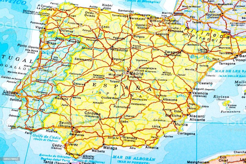 Espana of map stock photo