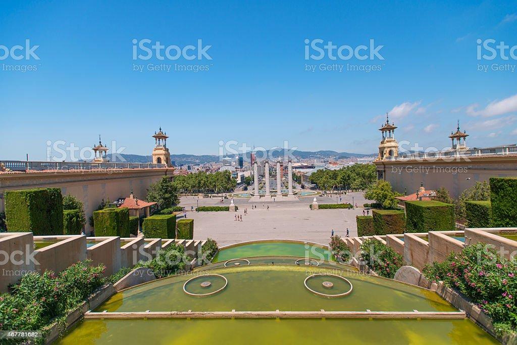 Espanya Square Barcelona stock photo