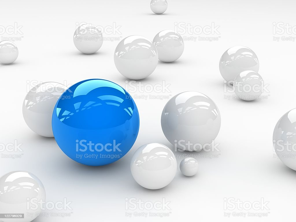 especial blue sphere royalty-free stock photo