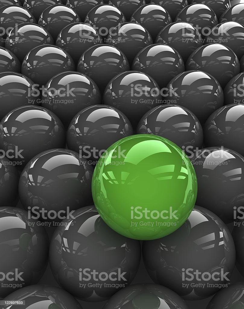 especial green sphere stock photo